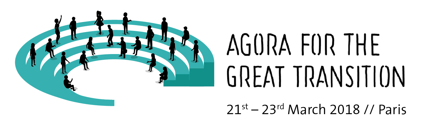 logo for the Agora for the Great Transition, Paris, 21–23 March 2018