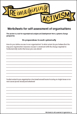 Re.imagining Activism worksheet